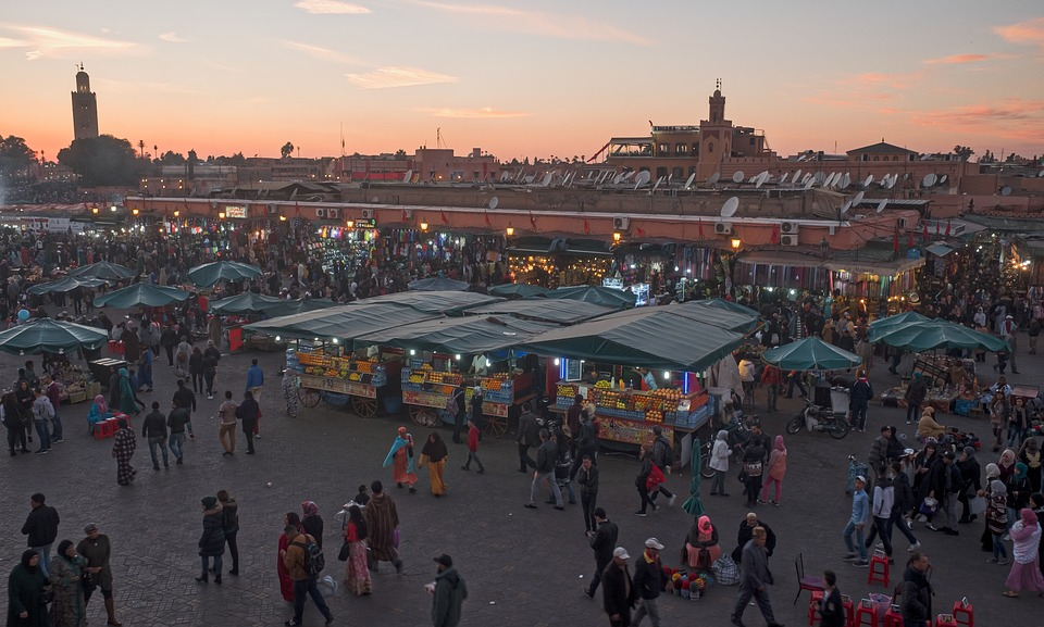Marrakech crowds
